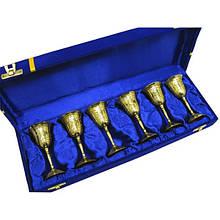 Рюмки бронзовые позолоченные Darshan н-р 6 шт 60мл 44122, КОД: 1366946