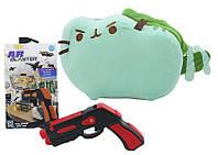 Комплект Мягкая игрушка кот дракон Pusheen cat и Пистолет дополненной реальности Красный vol-700, КОД: 1920730