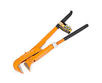 Ключ трубный Polax 90 градусов 1 обрезиненная рукоятка 44-007, КОД: 2361101