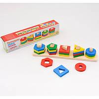 Деревянная игрушка геометрика в коробке, Игрушки для малышей,Деревянные игрушки,Деревянные шнуровки,Деревянная