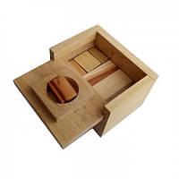 Деревянная головоломка Круть Верть Сундук 7х11х8 см nevg-0004, КОД: 119416
