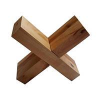 Деревянная головоломка Круть Верть Крест Вертушка 3х10х10 см nevg-0039, КОД: 119498