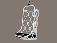 Подвесное кресло-качель Лилия-2 CRUZO натуральный ротанг белый kr08217, КОД: 1925481