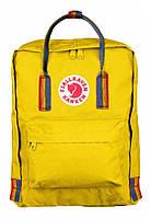 Городской рюкзак Fjallraven Kanken Art с ручками 16 л Желтый art 4, КОД: 1620671