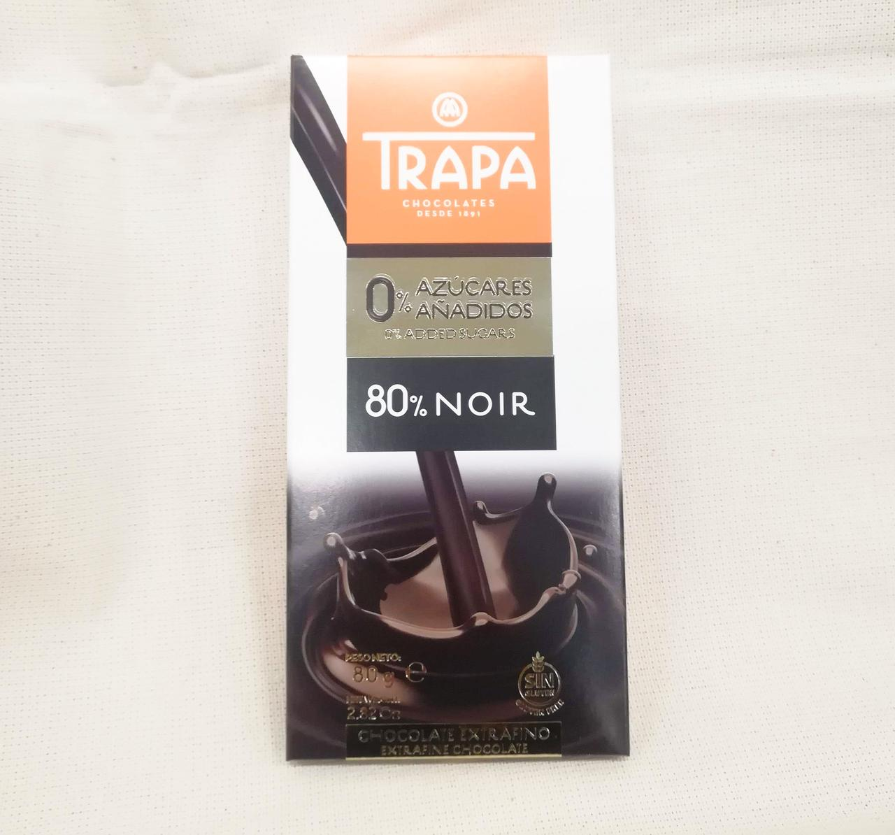 Trapa Intenso 80% Noir Sugarfree