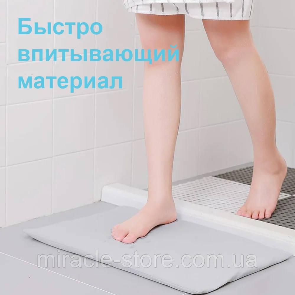 Противоскользащий диатомитовый коврик для ванной комнаты