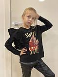 Hарядный свитшот Little Star для девочек  оптом р.116-158, фото 2