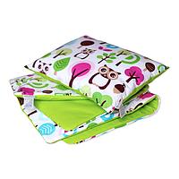 Cotton Living - Комплект в коляску/ люльку Forest Owls (Green)