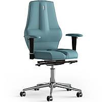 Кресло KULIK SYSTEM NANO Экокожа без подголовника без строчки Синий 16-909-BS-MC-0209, КОД: 1668851