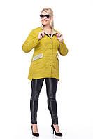 Демисезонная женская куртка ORIGA Лейла 44 Лайм, КОД: 1341321