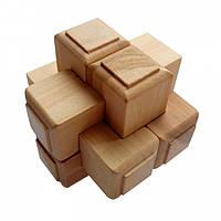 Деревянная головоломка Круть Верть Крест Макарова 7х7х7 см nevg-0017, КОД: 119485