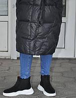 Кроссовки челси женские демисезонные из натуральной замши, черные. Полноразмерные. Размеры 36, 37, 39, 40, 41.