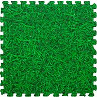 Модульное напольное термо покрытие мягкий пол-паз напольные панели пазлы 6шт. 60х60х10 мм зеленый траваEVA