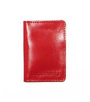 Обложка для документов DNK Leather ID паспорт Красный DNK mini doc R col.H, КОД: 1470270