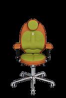 Детское эргономичное кресло KULIK SYSTEM TRIO Оранжевое с оливковым 1406, КОД: 1335550