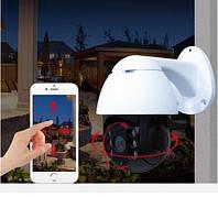 Уличная беспроводная поворотная IP камера WiFi с SD Видеонаблюдения с ночной съемкой