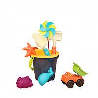 Набор для игры с песком и водой Battat Тележка Море 11 предметов BX1596Z, КОД: 2433209