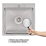 Кухонная мойка Lidz H5050 Brush 3.0/1.0 мм (LIDZH5050BRU3010), фото 3