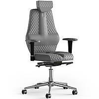Кресло KULIK SYSTEM NANO Антара с подголовником со строчкой Серебристый 16-901-WS-MC-0316, КОД: 1668826