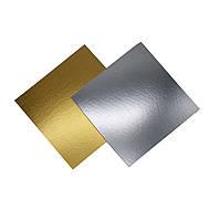 Подложка золото/серебро квадрат - 445*445 мм