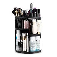 Вращающийся органайзер для косметики Cosmetic Organizer 360 Rotation 305х230 mm Черный 300615BL, КОД: 1849962