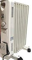 Масляный обогреватель Crownberg CB 9 радиатор на 9 секций 2000Вт с терморегулятором Белый par9, КОД: 2378468