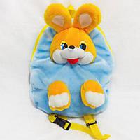 Рюкзак детский Золушка Заяц 37см Голубой 263-1, КОД: 1463515