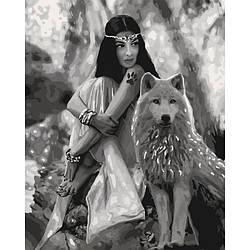 Картина по номерам Идейка Волчица 40 х 50 см KHO4139, КОД: 1317960