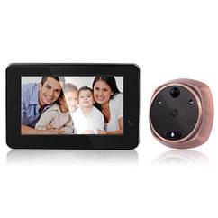 Видеоглазок wifi дверной с датчиком движения и записью Kivos KR06, 1 Мп, 4.3 экран 100003, КОД: 1455507