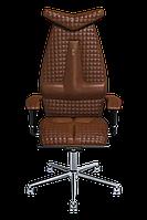 Эргономичное кресло KULIK SYSTEM JET Коричневое 302, КОД: 1335581