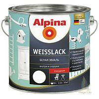 Эмаль Alpina Weisslack матовый/глянцевая, - 0,75 л