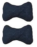 Подушка на подголовник ткань Антара  черная (2шт)