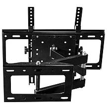 Выдвижной крепеж DJI CP-401 26-52 поворотный регулируемый для телевизора Черный 1410-2678, КОД: 1890432