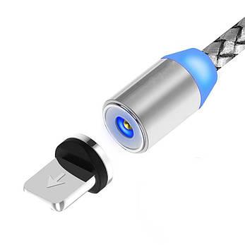 Магнитный кабель для зарядки Topk iPhone 1m 2.1A 360° Silver (TK17i-VER2-SL), фото 2