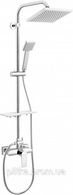 Комплект с верхним душем и смесителем FERRO ALGEO Square NP74-BAQ7U
