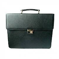 Портфель для документов с папкой Дорожка 29х37х7 см Black 7285, КОД: 1890075