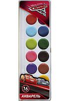 Фарба акварельна медова Міцар Серія Cars 16 кольорів 267198, КОД: 902202