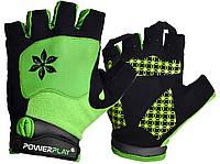 Велорукавички PowerPlay 5284 B M Зелені 5284BMGreen, КОД: 1139098