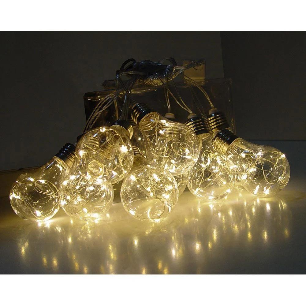Гирлянда Xmas Ball 7281 80WW-2 10 LED, 3 м, желтый свет