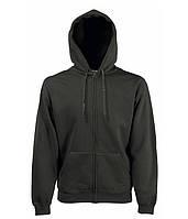 Толстовка Fruit of the Loom Premium hooded sweat jacket XXL Мокрый асфальт 062034087XXL, КОД: 1574336