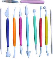 Набор инструментов Empire 10 стеков для декора мастики и марципана EM-8633psg, КОД: 175788