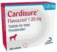 КАРДИШУР 1,25 мг CARDISURE поддержка при сердечной недостаточности у собак, 10 таблеток