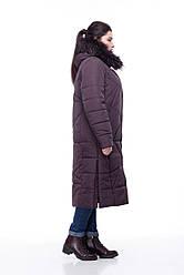 Зимняя женская куртка ORIGA Дакота 52 Темно-коричневый, КОД: 1391143