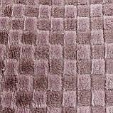 Однотонный плед в клетку 180x200см микрофибра, пледы орнамент искусственные, фото 2