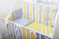 Детский комплект постельного белья Хлопковые Традиции 90х120 см Желто-серый, КОД: 1671740