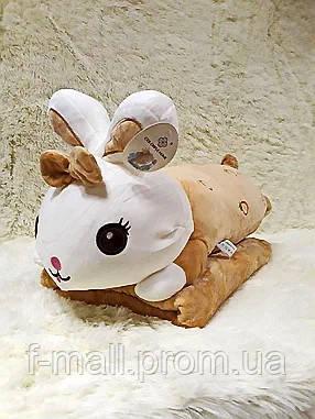 Плед - мягкая игрушка 3 в 1  Зайчик рыжий (94)