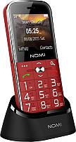 Бабушкофон с большими кнопками Nomi i220 2 сим-карты красный
