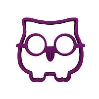 Силиконовая форма для жарки яиц CUMENSS Сова Purple 5666-19069, КОД: 2452209