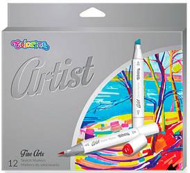 Маркеры для эскизов Colorino Artist 12 цветов 1 - 5 мм 12 шт 92470PTR, КОД: 2446991