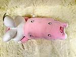 Плед - мягкая игрушка 3 в 1  Зайчик розовый (95), фото 2